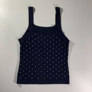 CYRUS Knitwear Sleeveless Navy PolkaDot S/M